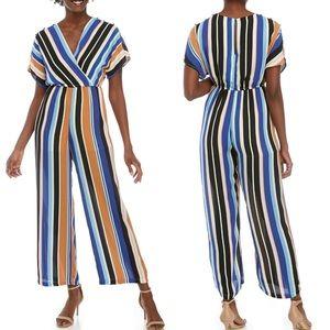 Short Sleeve Stripe Jumpsuit Size XS, S, M